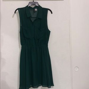 Green collared Dress